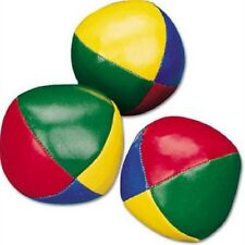 (6) Juggling Balls Set Circus Juggle Beginner Ball Kit Classic Multi-Colored