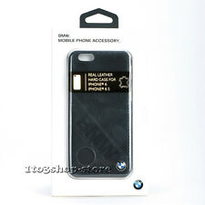 BMW Signature Collection Slanted Logo Leather Case for iPhone 6 iPhone 6s Black