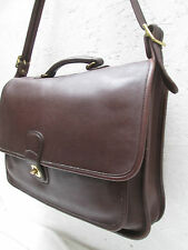 AUTHENTIQUE ( F6C-5180 ) sac cartable   COACH  cuir TBEG  bag A4__