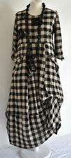 FAB GERMAN ZEDD.PLUS quirky/lagenlook BLACK/BEIGE  parachute dress XL/XXL