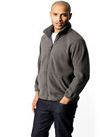 Heavyweight Work Wear Embroidered Fleece Jacket. FULL EMBROIDERED COLOUR LOGO