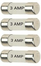 4 PCS  ( 4 PCS X 1 PACK )  3 AMP ELECTRICAL FUSES COMPLY WITH BS 1362 STANDARDS