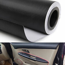 30 x 127 CM 3D Carbon Fiber Vinyl Sticker Car Wrap Interior Dashboard Air Vents