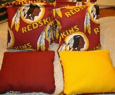 SET OF 8 WASHINGTON REDSKINS CORNHOLE BAGS - QUALITY