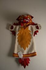 DROPENLING TIBET HAND-MADE TIBETAN APPLIQUE CHINESE RED ORANGE SNOW LION PUPPET