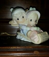 "Precious moments figurine "" 1999 Our First Christmas Together"""