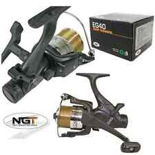 2 X BRAND NEW EG40 2 BB CARP FISHING REEL LOADED WITH 8LB LINE NGT TACKLE