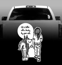 Life is Better With a Husky By Your Side - Vinyl Sticker Decal - High Quality