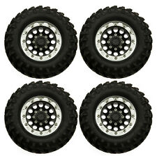 4x RC 1/10 Scale Truck 1.9 Beadlock Wheel Rims With 96mm Tyre Set fr RC CRAWLER