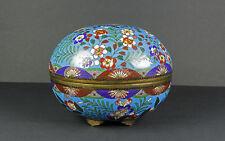 CLOISONNE Giappone incenso-dose incense container tardiva Edo/precoce Meiji-periodo