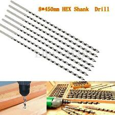 1 Pc 8mm Auger Drill Bit Set 450mm Extra Long Wood Woodworking Drill Bits