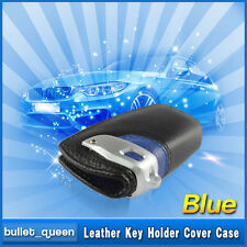 Blue Sport Line Leather Key FOB Protect Housing Cover For BMW X3 F25M F01 F02