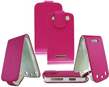 NEW PINK LEATHER FLIP WALLET POUCH CASE COVER FOR BLACKBERRY CURVE 9360 9370