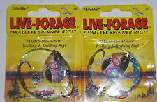 Northland Tackle Live Forage #4 Walleye Crawler Rigs (Lot of 2-Rainbow)