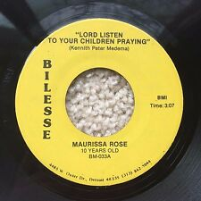 "MAURISSA ROSE ""The Blood"" / ""Lord Listen"" rare DETROIT GOSPEL SOUL on BILESSE 45"