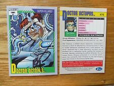 1991 IMPEL MARVEL UNIVERSE 2 DOCTOR OCTOPUS CARD SIGNED ERIK LARSEN ART,WITH POA