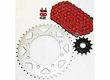 1990-2014 KAWASAKI KL650 KLR650 650 RED CHAIN AND SPROCKET 14/43 110L