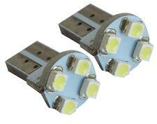 2x ampoule T10 W5W 12V 4LED SMD blanc effet xénon éclairage intérieur coffre