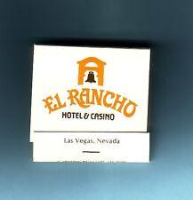 Vintage  El Rancho Hotel & Casino Las Vegas Nevada Matchbook