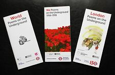 3 x TFL POEMS ON THE UNDERGROUND BOOKLET LONDON 2012 150TH ANNIVERSARY GREAT WAR