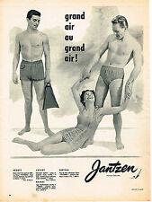 PUBLICITE ADVERTISING 015  1956  JANTZEN  collection slips & maillots de bain