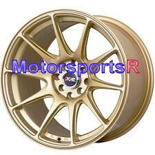 XXR 527 17 Gold Concave Rims Wheels Staggered Stance 4x114.3 4 Lugs S14 S13