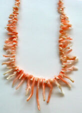Vintage Genuine Angel Skin Coral Branch Necklace