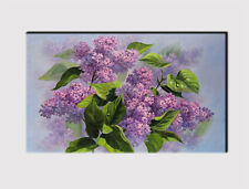 328 X LARGE CANVAS 18''x 32'' WALL ART PURPLE LILAC FLOWERS PRINT PICTURE