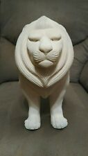 Haeger USA Pottery Large Ivory Sandstone Lion