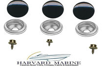 Black Cap Marine Canvas Fabric Cover Snap Button Kit for Sea Ray Bayliner