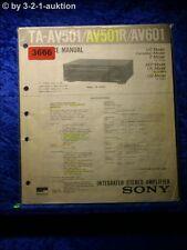 Sony Service Manual TA AV501 /AV501R / AV601 Amplifier (#3666)