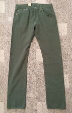Mens 42W X 30L Meadow Moss Green Levi's 501 Pants Jeans Straight Leg Button Fly