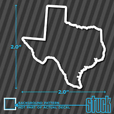"Texas State Outline - SMALL 2"" - 4 vinyl decal stickers TX track map USA"