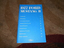 1977 FORD MUSTANG II COBRA II NEW CORRECT FACTORY OWNERS OPERATORS MANUAL NICE