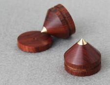 3Set Spikes + Pads Rosewood Wooden Copper speaker Isolation stand