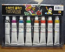 Stained Glass Tubes Paint 8 colors Package / Tube Painting Kit 7.5ml