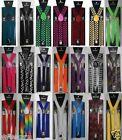 BNWT Girls Boys Womens Mens Ladies Adjustable Braces Suspenders Fancy Unisex