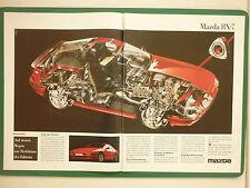 7/1986 PUBLICITE PUB MAZDA RX-7 WAGEN VOITURE ORIGINAL GERMAN REKLAME ADVERT