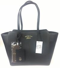 "Gucci ($1100) Black ""Trademark"" Small Leather Swing Tote w/Hangtag #354408, NWT"