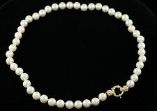 18 inch Natural Akoya 9MM Pearl necklace with 14kt yg and diamond clasp