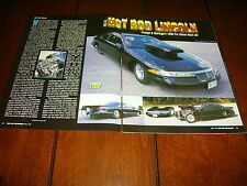 1996 LINCOLN MARK VIII PRO STREET HOT ROD   ***ORIGINAL 1997 ARTICLE***