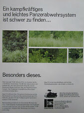3/1977 PUB EMERSON DEFENSE SYSTEMS TOW VEHICLE ITV M113A1 ORIGINAL GERMAN AD