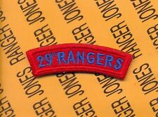 US Army 29th RANGERS 29th infantry Division tab arc patch c/e
