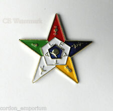 ORDER OF THE EASTERN STAR NOVELTY LAPEL PIN 1 INCH