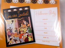 HALLOWEEN PARTY INVITATIONS Set of 15 Vintage artwork NEW with envelopes CUTE