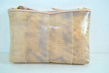 NEW CHANCE ENCOUNTERS PINK SNAKESKIN LEATHER  SHOULDER / CLUTCH EVENING HANDBAG