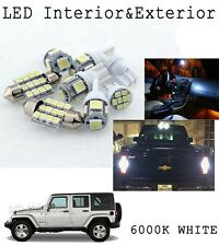 8 x White LED Interior Bulb+Reverse+License Plate Lights For Jeep Wrangler JK KP