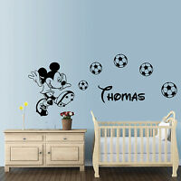 Huge football Mickey Mouse personalised wall art 155cm bedroom sticker