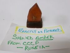 grampa's Signed Real Amber Tree Sap Stone From Russia CCCP   Ballerina  Strange