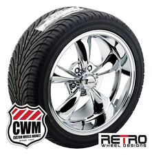 "17x7"" / 18x9"" inch Retro Chrome Wheels Rims Tires for Olds Cutlass 66-81"